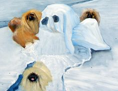 Hey, I found this really awesome Etsy listing at https://www.etsy.com/listing/121716886/pekingese-art-dog-print-snow-angels-by