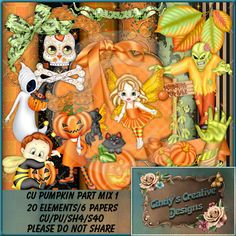 CU Pumpkin Party Mix 1 (FS/CU/S4H) [CCD Pumpkin Party Mix 1] : Scrap and Tubes…
