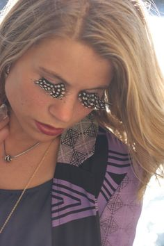 Discover this look wearing Purple River Island Jackets - If you're a bird I'm a bird. River Island Jackets, Feather Eyelashes, Wearing Purple, Makeup Looks, Eye Makeup, Exotic, Eyes, Beauty, Style
