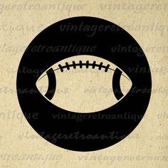 Printable Image Football Graphic Football Icon Digital Sports