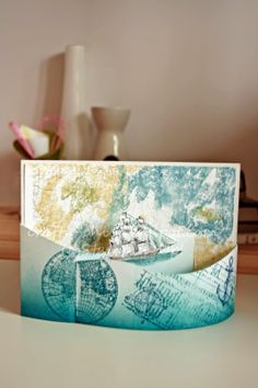 Crafty Chic Stampin' Up Blog, Stamp Crazy: Bendi Card Using Stampin' Up! The Open Sea