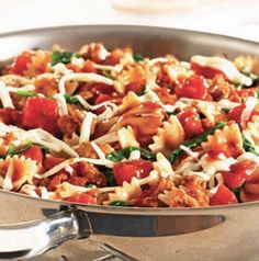 Italian Pasta Skillet is brilliant. The pasta cooks right in the skillet. that means minimal clean up! Make it meatless by omitting the sausage. Just add more veggies or use a crumbled meat alternative, if you'd like.