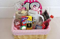 18th birthday present - basket full of their favourite things