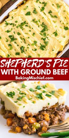 This Easy Shepherd's Pie With Ground Beef recipe is a perfect easy dinner. This Easy Shepherd's Pie With Ground Beef recipe is a perfect easy dinner. Healthy Ground Beef, Healthy Beef Recipes, Ground Beef Recipes For Dinner, Dinner With Ground Beef, Easy Dinner Recipes, Easy Meals, Cooking Recipes, Dinner Ideas, Ground Beef Meals