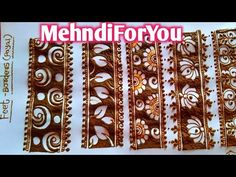 Mehndi design for beginners :- practice negative space mehndi Pretty Henna Designs, Basic Mehndi Designs, Floral Henna Designs, Mehndi Designs Feet, Latest Bridal Mehndi Designs, Beginner Henna Designs, Indian Mehndi Designs, Henna Art Designs, Mehndi Designs 2018