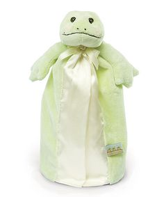Take a look at this Green Tadbit's Bye Bye Buddy Plush Toy by Bunnies by the Bay on #zulily today!