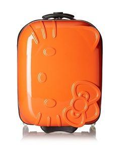 Hello Kitty ABS Molded Luggage (Orange)