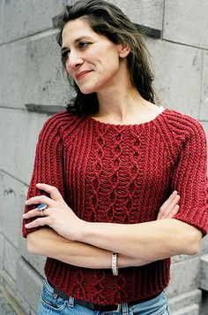 Ravelry: Aspen Top-Down Sweater pattern by Veronik Avery