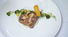MasterChef - Terrine of Poultry and Game with Sauce Gribiche - Recipe By: George Calombaris Small Tray, Large Tray, Chef Store, Pork Hock, Custard Powder, Coriander Seeds, Poultry, A Food, Juice