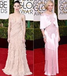 <em>Carol </em>Co-Stars Cate Blanchett and Rooney Mara Wear the Sweetest Trend at theGolden Globes