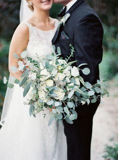 al fresco white rose bouquet