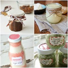 DIY beauty gift ideas ideally suited for gifting in jars.