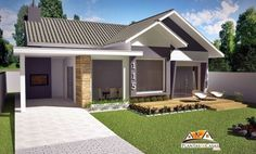 American-style 3 Bedroom House Plan project is a house plan, developed for land of 12 or 15 meters in front. With 3 bedrooms and 1 suite, It has an American-style room where Family House Plans, Bedroom House Plans, Dream House Plans, House Floor Plans, My Dream Home, Architecture Magazines, Amazing Architecture, One Storey House, House Windows