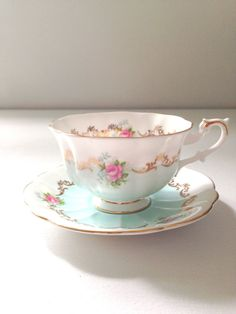 English Bone China Royal Albert Tea Cup and by MariasFarmhouse, $195.00