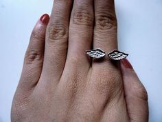 anillo alas de angel regulable vintage pin up rockabilly angel wings