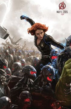 """""""Black Widow"""" from the official """"Avengers: Age of Ultron"""" San Diego Comic Con poster"""