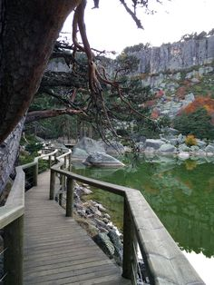 La Luna Negra de Urbión (Soria) Spain Travel, Outdoor Travel, Garden Bridge, Places To See, Paths, Madrid, Tourism, Around The Worlds, Outdoor Structures