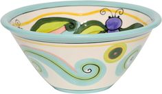 Caffco International Dana Wittmann Collection Round Ceramic Serving Bowl, 9.25-Inches in Diameter, Dragonfly >>> Check out the image by visiting the link. (This is an affiliate link) #DecorativeAccessories