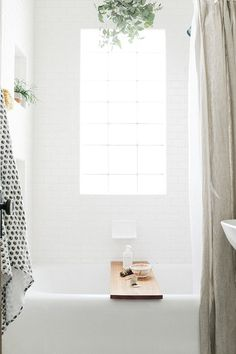Pristine bath with natural light