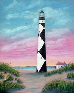 """Cape Lookout Sunrise"" with a colorful sky and the beach on the Outer Banks by North Carolina artist, Fran Brooks.  www.artistnannie.com"