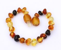 Stretch  multicolor rainbow  Baltic Amber Bracelet  #2