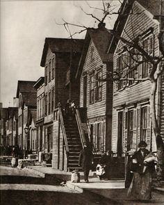 Vintage Black and White Art Photography Print. Maxwell Street. Chicago, 1900. Architecture, Buildings, Street, City.