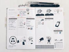 """79 Likes, 1 Comments - Teka (@tekaplans) on Instagram: """"Semana planejada e decorada com ilustrações conceituais em preto em branco repletas de…"""""""