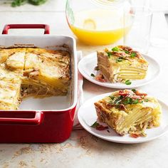The only thing better than mimosas? Mimosas paired with a fabulous breakfast casserole! Layer on the goodness with pancetta, Maui onions, and fresh rosemary./