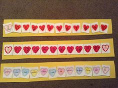Numbers 0-20 and number word sequencing activity with HEARTS for February! Great for math centers! $