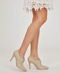 Ivory Olivia Oxford heels for Bona Drag by Fortress of Inca
