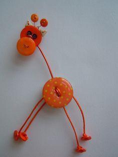 Giraffa ArancionePois spilla.cionolo di Foresta Mentale Chiaresca su DaWanda.com