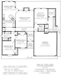 654060 One Story 3 Bedroom 2 Bath French Style House