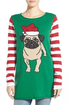 Ugly Christmas Sweater Pug Christmas Sweater available at #Nordstrom