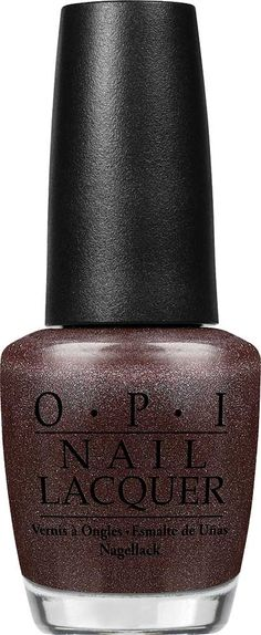 OPI My Private Jet  Nail Lacquer | Luxurious deep black with glints of glamour. | Shimmer