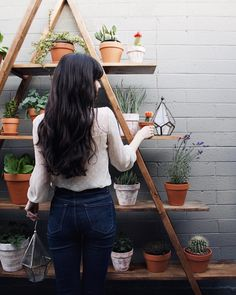 @newdarlings - high waisted jeans - lots of plants