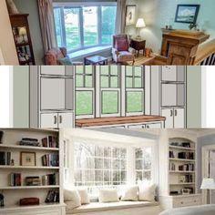 Bungalow window seat plans