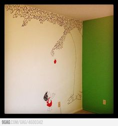 The Giving Tree wall mural I will be painting this on their walls!
