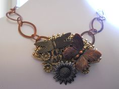 Copper Necklace on Chain Link Necklace with  by AprilSnowJewelry, $32.00...  SOLD....
