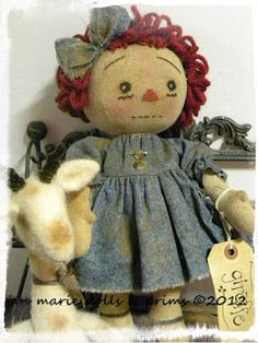 Primitive Folk Art Dolls by JaN MaRie DoLLs and PriMs,Primitive Folk Art Patterns, Soft Sculpture Dolls