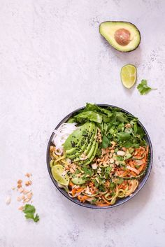 Summer Roll Bowl with Peanut Lime Sauce
