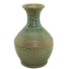 花器 手拉陶瓷花器 树根色 陶瓷 多尺寸可选