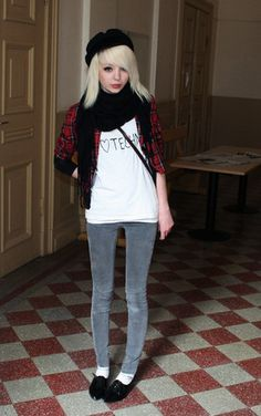 Stockholms Facon äKta Blå Vintage Hat, Scarf, Zoul Tartan Blazer, I <3 Techno T Shirt, Cheap Monday Skinny Jeans, Shoes
