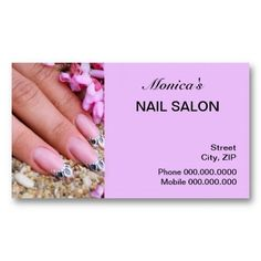Beauty Nails Business Cards | Manicurist Business Cards ...
