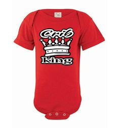 Crib King Baby Clothes T-shirt Onsie NB to 24 Mos. Fun Edgy