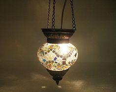 Grey moroccan lantern mosaic hanging lamp glass chandelier light turkish candle holder h 143 handmade_antiques http://www.amazon.com/dp/B01EEMSULA/ref=cm_sw_r_pi_dp_Hjafxb0KX5WH3