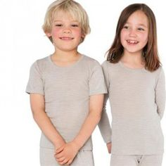 Camiseta niños manga larga lana orgánica Living Crafts