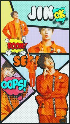 JIN bts lockscreen wallpaper comic ver💯 everyone needs this Bts Jin, Suga Rap, Bts Bangtan Boy, Seokjin, Bts 2018, Billboard Music Awards, Foto Bts, Bts K Pop, K Wallpaper