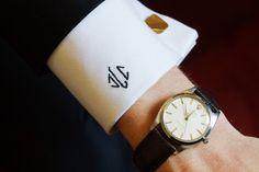 French cuff, cufflinks and monogram...perfect!