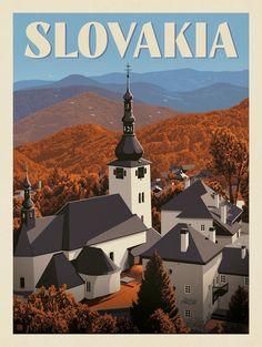 Anderson Design Group – World Travel – Slovakia Tourism Poster, Travel Illustration, Illustration Girl, Art Deco Posters, Travel Wall, Art Graphique, Travel Themes, Travel Aesthetic, Vintage Travel Posters