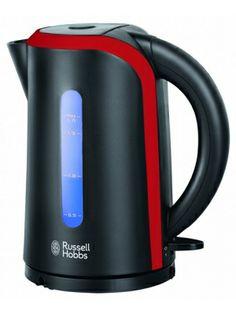 RUSSELL HOBBS 19600-70 Desire Czajnik  • Obudowa w kolorze czarnym z czerwonymi elementami • Pojemność 1,7L • Niebieskie podświetlenie podczas gotowania • Obrotowa podstawa 360°